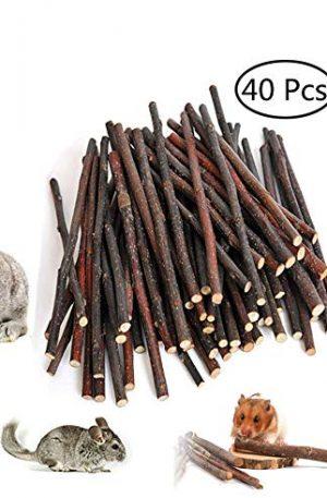 piezas de rama de árbol manzana natural para conejos