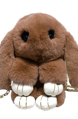 adorable bolso de hombro de conejito con cadena