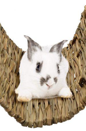 alfombra juguete masticable para conejos alfombrilla de hierba tejida a mano