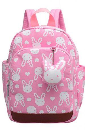 bolso infantil de conejo rosado