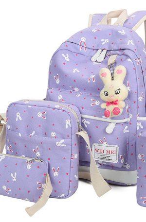 bolsos de conejitos mochila y bolso de escuela
