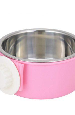 cuencos de alimento para mascotas acero inoxidable y plástico sistema suspendido