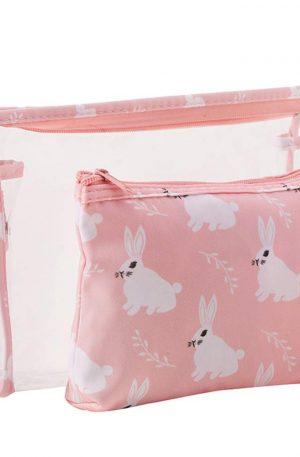 guarda cosméticos bolsa de conejo