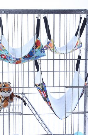 hamacas para conejos uso de jaula o silla reversible cómoda malla colgante