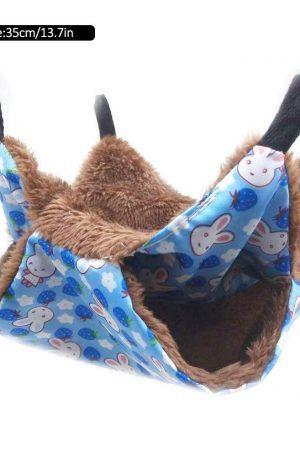 litera hamaca de lujo para mascotas pequeñas dormir cálido en invierno