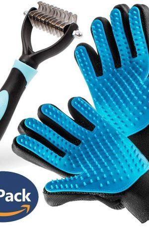 cepillo guantes manopla para masajes y rastrillo recogedor de pelaje ducha y limpieza