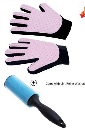 guantes cepillo para el cuidado de mascotas masajes y peine de baño