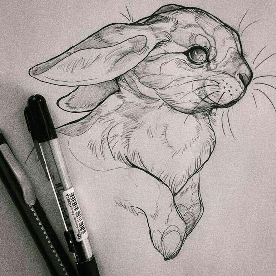 dibujo-de-conejo-con-tinta