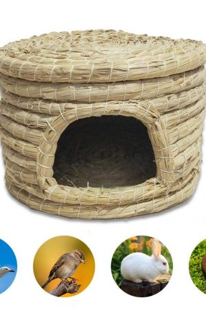 camas para conejos caseras hecha a mano de paja
