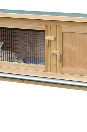 conejera de madera para exteriores e interiores