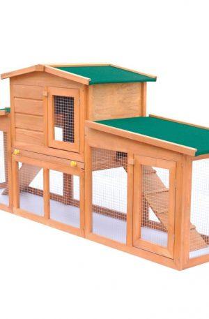 jaula para conejos de madera conejera con techos