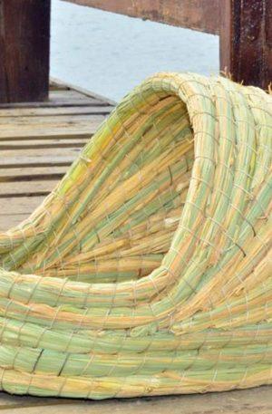 nido de conejos caseros hecho a mano tejido natural