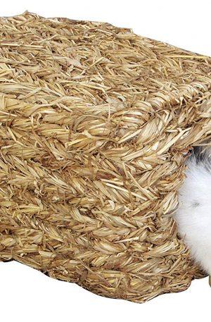 nido para conejos natural de hierbas con dos agujeros