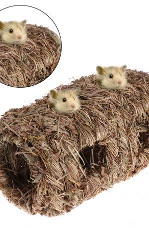 nido tejido de hierba para conejos pequeños