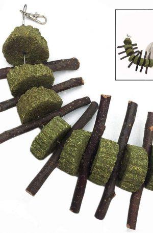 palitos de manzana natural hierba en forma de bola para moler dientes de conejos