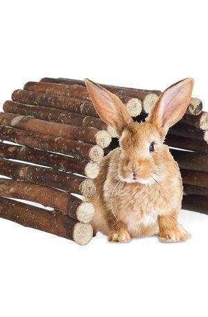 puente para roedores juegos para conejos de madera