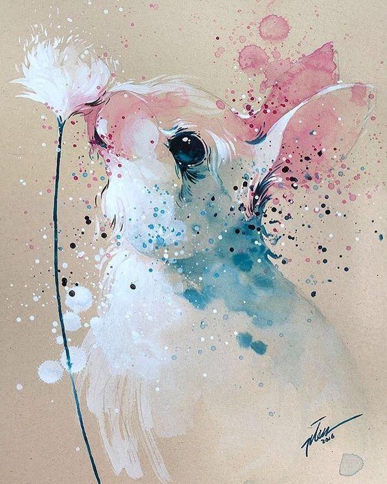 pintar-conejos-acuarelas