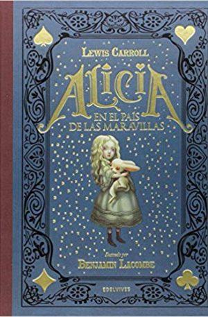 libro ilustrado de Alicia y el conejo blanco