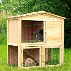 jaula para conejos de madera